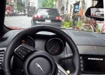 Jaguar F-Type V8S driver's view