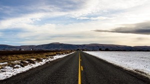 Canadian road (photoshopped, hence lack of holes)