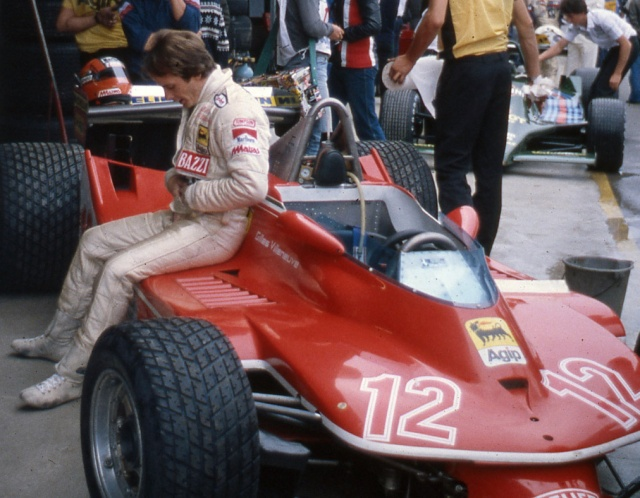 Gilles Villeneuve in 1979 at Imola