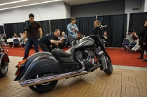 Indian motorcycle in black